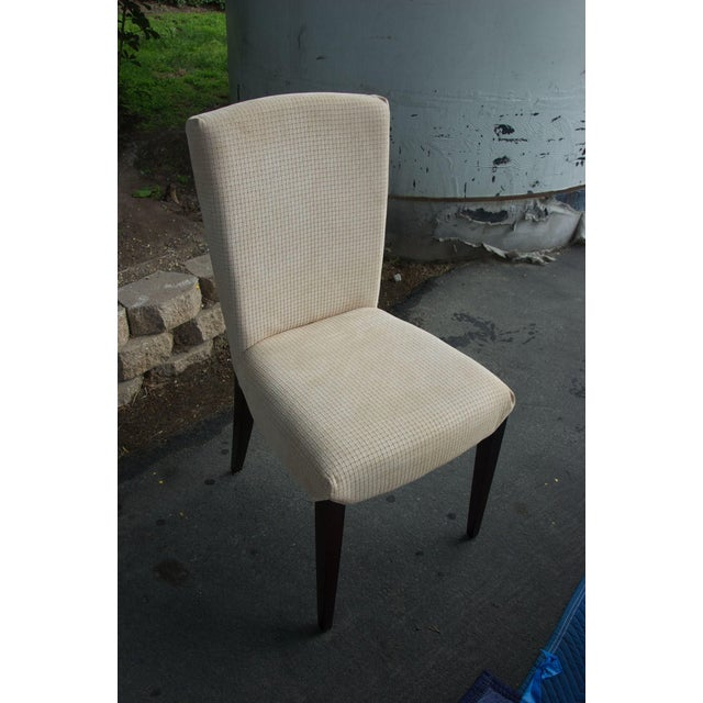Image of Italian Suede Dining Table Chairs - Set of 6