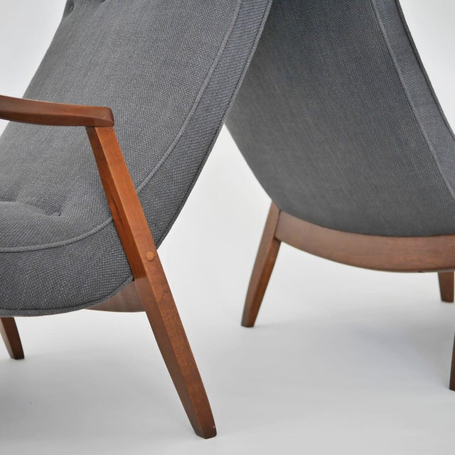 Milo Baughman Pair of Scoop Lounge Chairs - Image 7 of 7