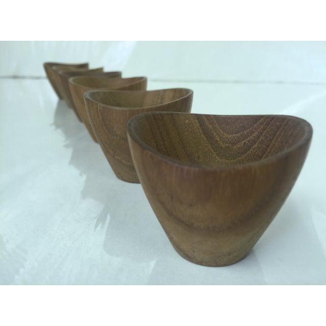 Ernst Henriksen Tiny Danish Teak Bowls - Set of 6 - Image 6 of 11