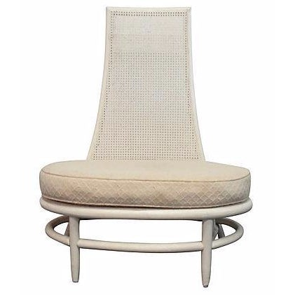 Mid-Century Hollywood Regency High Back Chair - Image 1 of 5