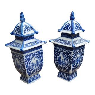 Chinese Temple Pagoda Urns