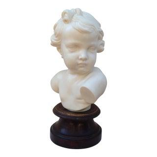 Italian Marble Composition Cherub Bust