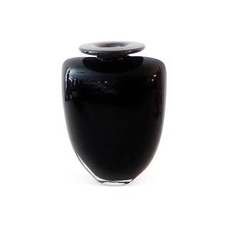 Vintage 1970 Swedish Kosta Boda Aubergine Vase