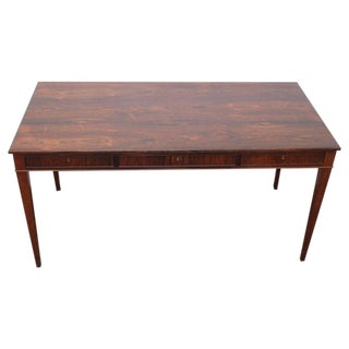 Minimalist Rosewood Desk in the Style of Frits Henningsen, Danish, Mid-Century
