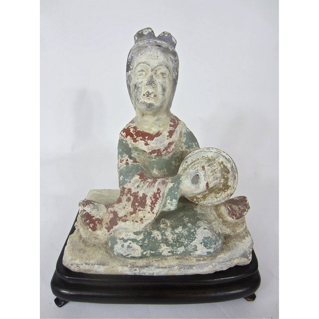 Chinese Tang Dynasty Pottery Figure of a Musician - Image 3 of 6