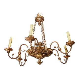 First quarter of 19th century Italian Giltwood Chandelier
