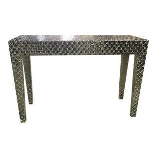 Scalloped Mirror Console Table