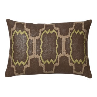"Piper Collection Chocolate ""Lilly"" Pillow"