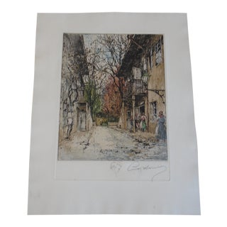 Schubert's Birthplace by Luigi Kasimir, Original Etching