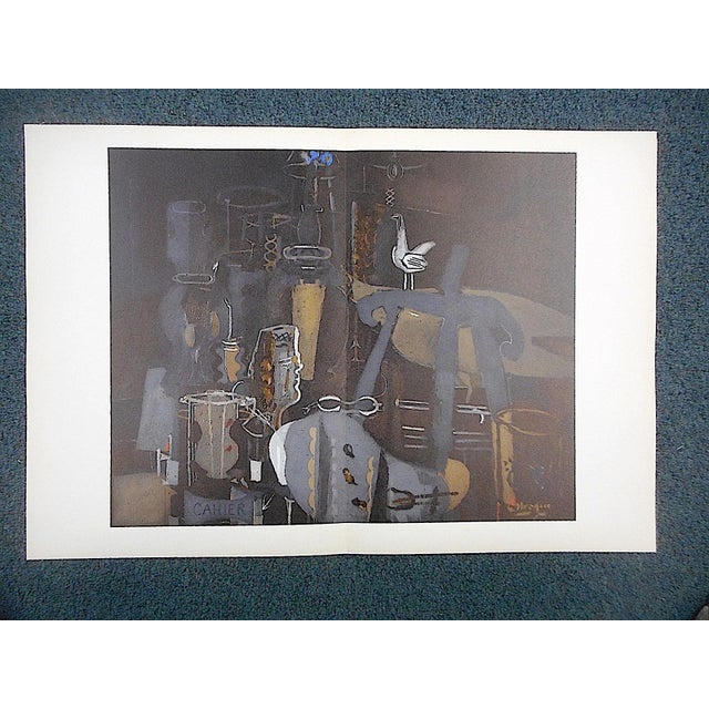 1964 vintage braque lithograph for derriere le miroir 1964 for Miroir vanguard