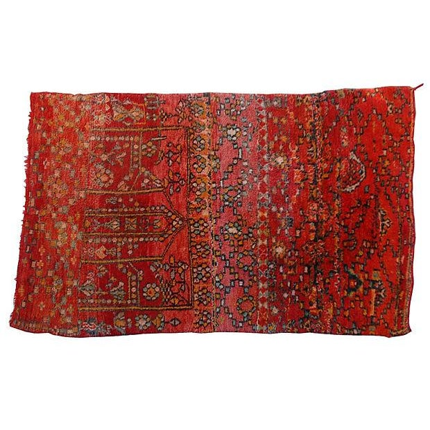 Vintage Moroccan Tribal Rug - 5′1″ × 8′2″ - Image 1 of 5