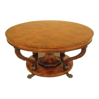 Theodore Alexander Burl Walnut Dining Table