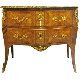 A French Louis XV Marquetry Commode