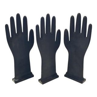 Gray Industrial Glove Molds - Set of 3