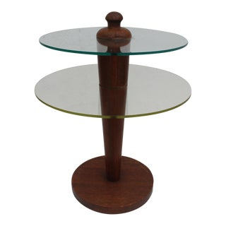 Gilbert Rohde Style Pedestal Side Table
