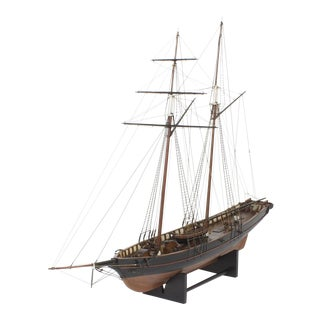 Mahogany Schooner Ship or Boat Model