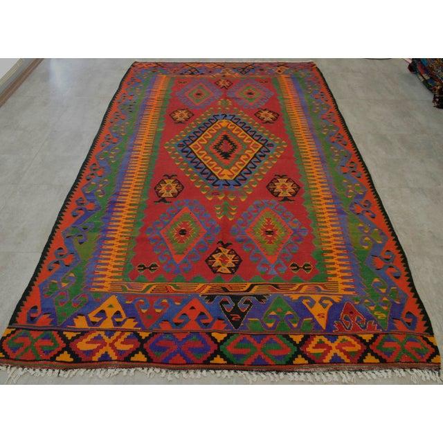 Camel Wool Rug Persian Rug Handwoven Kilim Area