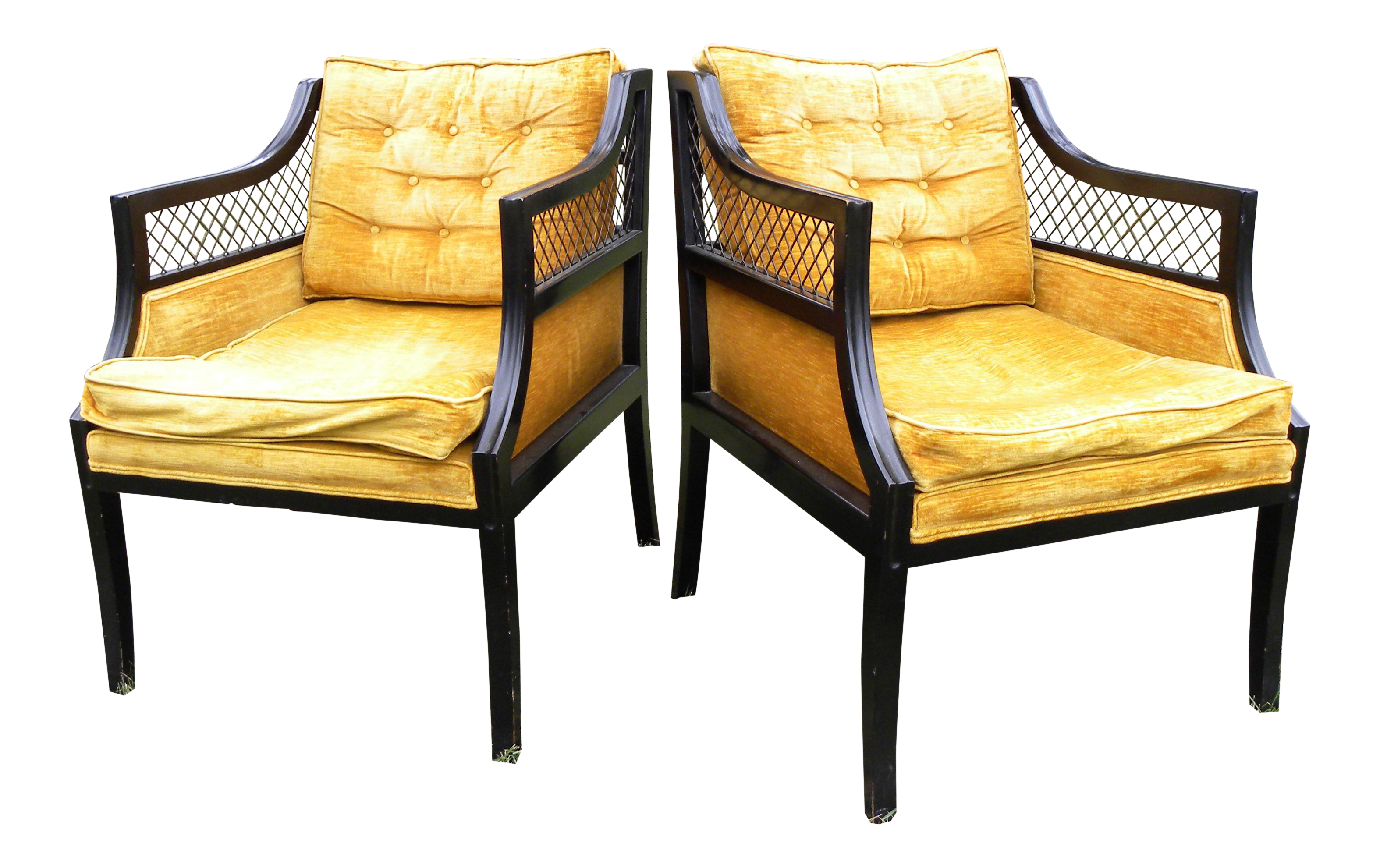 Vintage Gold Accent Chairs Set of 2