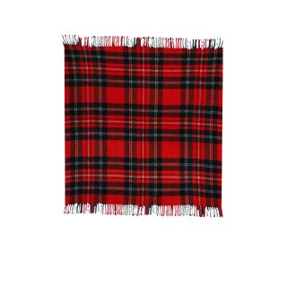 Vintage Red Plaid Wool Blanket by Troy Robe