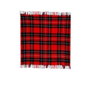 Vintage Red Plaid Wool Blanket by Troy Robe