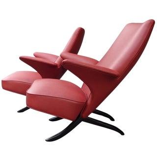 "Theo Ruth Pair ""Congo"" Club Chairs, Netherlands circa 1953"