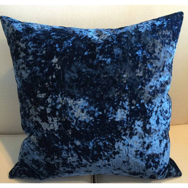 Vintage 1940's Royal Blue Velvet Pillows - Pair - Image 2 of 3