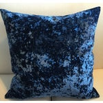Image of Vintage 1940's Royal Blue Velvet Pillows - Pair