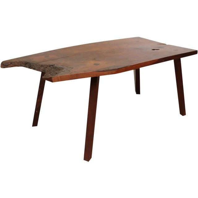 Inscribed Handmade Live Edge Coffee Table - Image 1 of 8