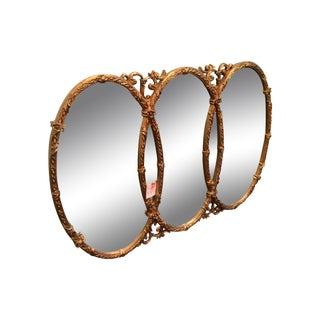 Overlapping Round Gilt Mirror