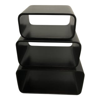 Modern Rounded Stacking Tables - Set of 3