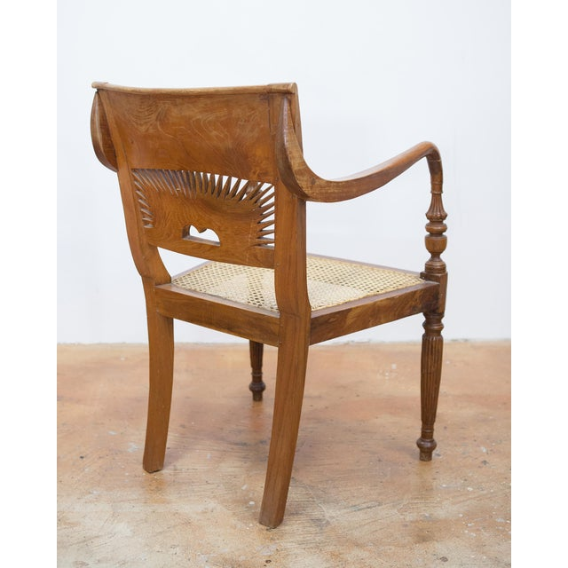 Vintage Teak & Cane Chairs - A Pair - Image 4 of 9