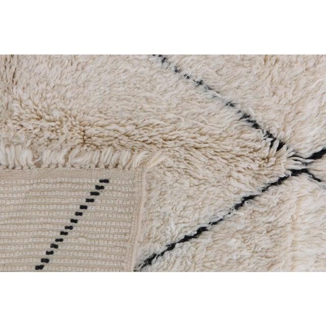 beni ourain moroccan rug 6 39 6 x 8 39 3 feet 200 x 250 cm chairish. Black Bedroom Furniture Sets. Home Design Ideas