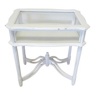 Vintage Wood & Glass Display Vitrine Table