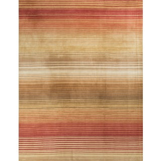 Modern Contemporary Hand Knotted Wool Rug - 8′10″ × 11′11″