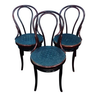 Antique Thonet Austria Bentwood Cafe No 18 Chairs - Set of 3