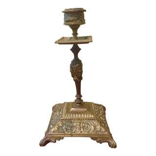 Vintage Ornate Brass Candlestick