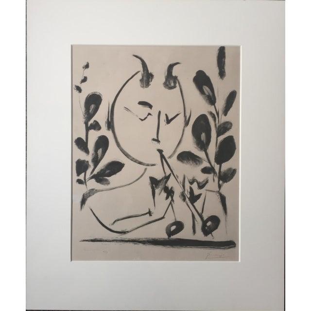 "Pablo Picasso 1948 ""Faune aux Branchages"" Lithograph - Image 2 of 5"