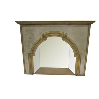 Custom Brass Mixed Metal & Mirror Ornamental Spanish Dubarry Fireplace