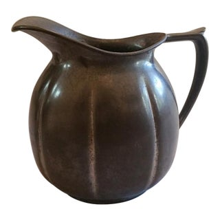 Antique 1930s Old Colony Pewter Pitcher