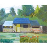 Image of Robert Blanchard Mid-Century Cottage Oil Painting