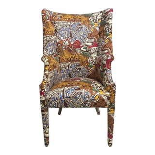 Wing Chair With Picasso Theme
