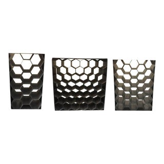 Vintage Galvanized Metal Honeycomb Wine Racks (SOLD Individually)