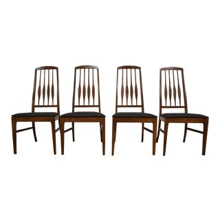 Keller Black Vinyl Dining Chairs - Set of 4