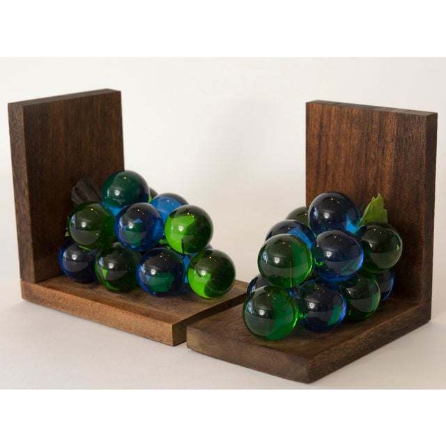 Mid-Century Lucite Grape Bookends- A pair - Image 5 of 10
