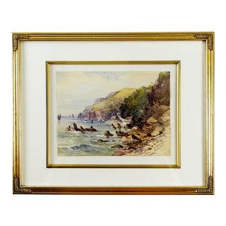 Babbacombe Bay England Watercolor