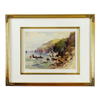Babbacombe Bay England Watercolor