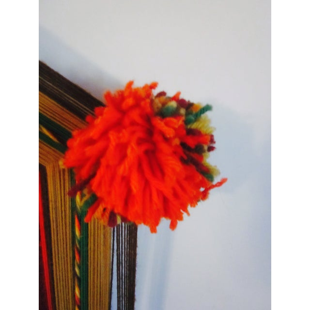 Boho Handwoven Mandala Wool Wall Hanging - Image 3 of 6
