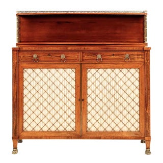 Exquisite English Regency Brass-Inlaid Rosewood Chiffonier Cabinet, Circa 1810-20