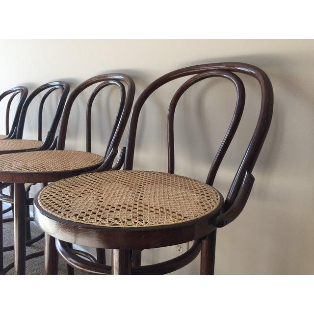 Thonet Style Bentwood Bar Stools - Set of 4 - Image 5 of 11