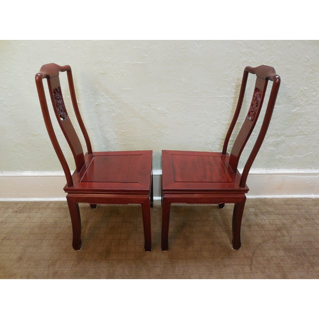 Chinese Rosewood Oriental Style Dining Chairs - 10 - Image 3 of 10